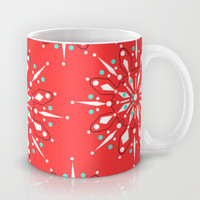 Retro Winter Collection Snowflake Mug by Nathalie Robbins