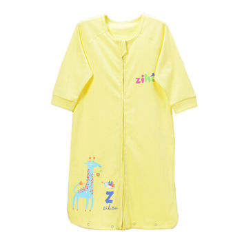 Unisex-Baby Newborn 100% Cotton Sleep Bag Sack,thin yellow