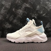 Wmns Nike Air Huarache 4 Milk White / Light Blue Running Shoes - Best Online Sale