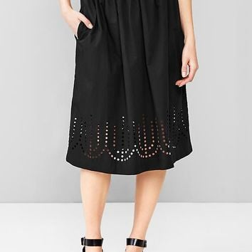 Gap Women Laser Cut Midi Skirt