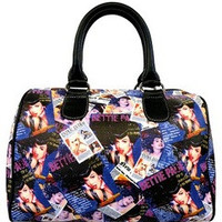 Bettie Page Collage Satchel Bag