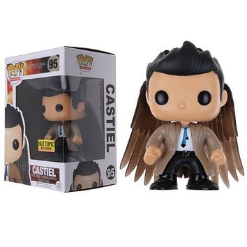 Supernatural Dean Castiel With Wings Exclusive Vinyl Figure Toy in Box