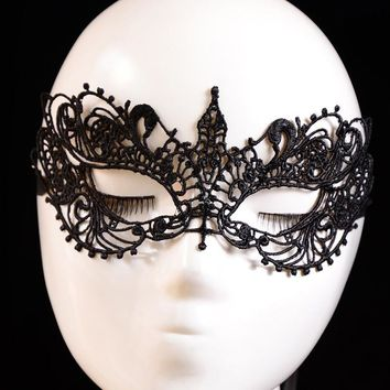 Beautiful lady Black Lace Floral Eye Mask women Venetian Masquerade Fancy Party Prom Dress half face mask Accessories