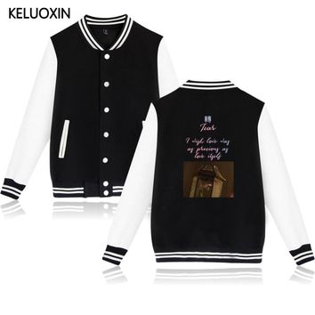 KPOP BTS Bangtan Boys Army KELUOXIN  Love Yourself Tear Baseball Jacket   Fans Fake Love Hoodies Women Men Fashion Fleece Sweatshirt Sudadera AT_89_10
