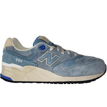 ICIKGQ8 new balance 999 elite edition wooly light blue suede running sneaker