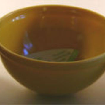 Yellow Reduce Melaboo Triple Serving Bowl Bamboo Condiments Round Sections