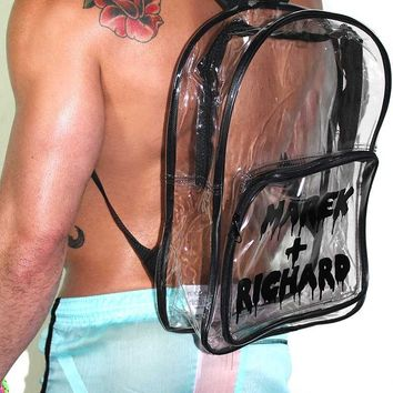 Clear Vinyl Logo Backpack