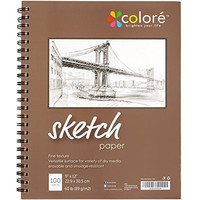 Colore Sketch Pad - Durable Sketching Paper And Notebook Material - Great For Drawing With Colored Pencils - 9x12 Spiral Sketchbook - Perfect Art Book & Craft Supplies Set For Teens & Artists - 1 Pack