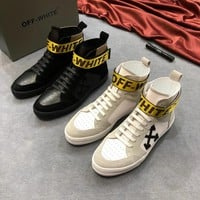 Off-White Hi-Top Black White Sneakers - Best Deal Online
