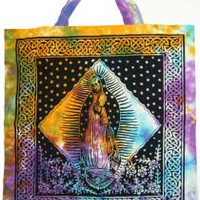 Santa Muerte Tote Bag - hippie bag, saint death bag, hippie back pack, boho bag