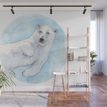 Polar bear underwater Wall Mural by savousepate