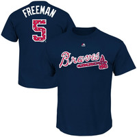 Freddie Freeman Atlanta Braves Majestic Stars & Stripes Player Name & Number T-Shirt – Navy Blue