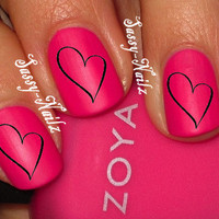 Love Heart Nail Art Transfer Decal