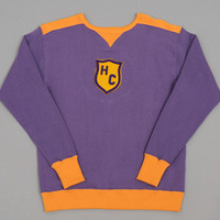 hellers cafe - hc sweatshirt purple   orange