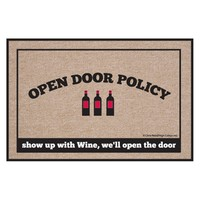 High Cotton Open Door Policy Wine Indoor / Outdoor Doormat | www.hayneedle.com