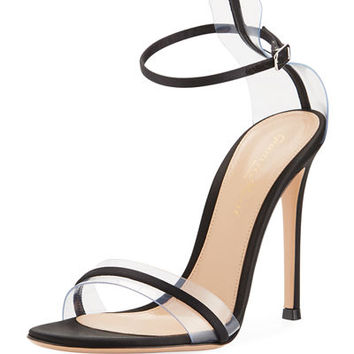 Gianvito Rossi Plexi/Satin 105mm Sandal