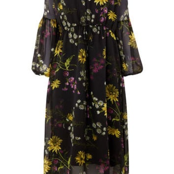DUTCH FLORAL MIDI DRESS