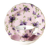 Royal Albert 100 Years Teaware Teacup, Saucer, Plate 1990