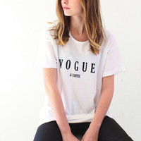 Vogue & Coffee Oversized Tee