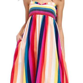 Listicle Multi Stripe Dress