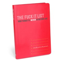 The Fuck It List Journal - 1000 Things Not to Do Before You Die - Ships 4/25