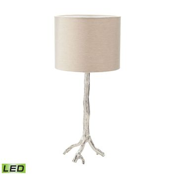 Tree Branch LED Table Lamp in Nickel Nickel