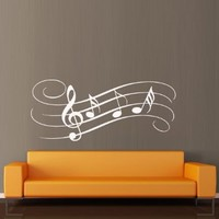 Wall Decal Decor Decals Art Sticker Note Music Song Heart Relax Gamma (M390)