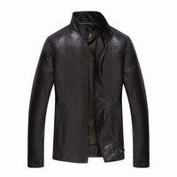 New Leather Jackets Men  Leather Jacket  Mens Stand Collar Jacket