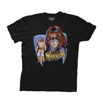 WWE Ultimate Warrior Wrestling Licensed Adult T Shirt