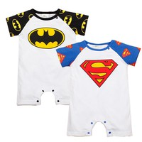 Newborn Baby Clothes Super Man Style Baby Boy Clothes Cotton Roupas Bebe Patchwork Toddler  Boy Jumpsuits Summer Baby Boy Romper