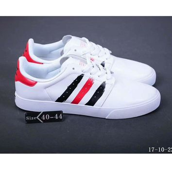 Adidas Seeley Court full leather autumn and winter board shoes F-SSRS-CJZX Red and white