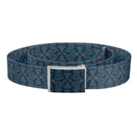 Blue Damask and Vines Belt