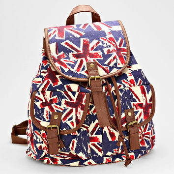 British Flag Backpack Handbag