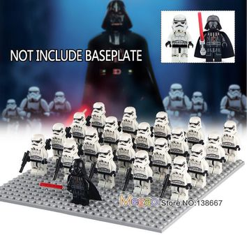 Star Wars Force Episode 1 2 3 4 5 21pcs/lot Building Blocks legoings  Darth Vader Leader First Order Stormtroopers Army Troops Bricks Children Gifts Toys AT_72_6