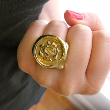 Wax Seal Signet Ring