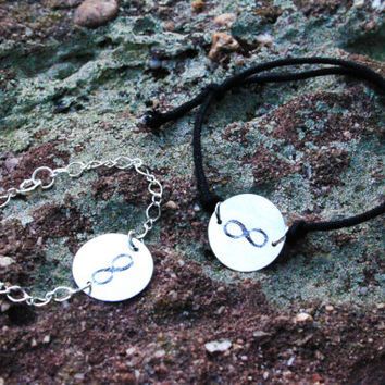 His & Hers Infinity Bracelets  - Best Friends Bracelets - Matching Couples Infinity Bracelets - Personalized Infinity Bracelet