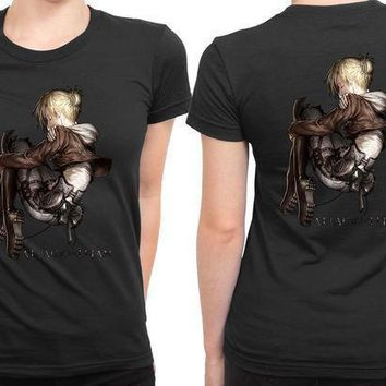Attack On Titan Shingeki No Kyojin Annie 2 Sided Womens T Shirt
