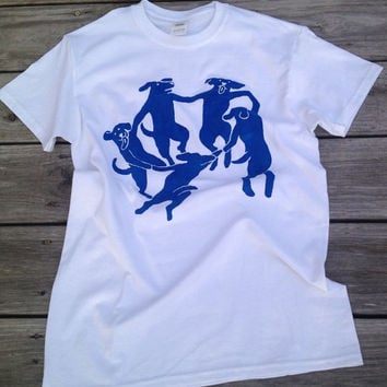 "MATISSE ""La Danse"" shirt with DOGS!"