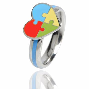 Heart Puzzle Rings