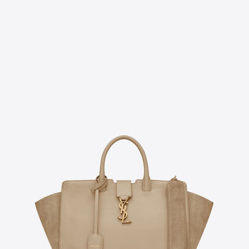 Small DOWNTOWN YSL tote bag in powder leather and suede