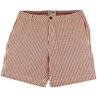 "7"" Seersucker Walking Shorts in Crimson by Olde School Brand"