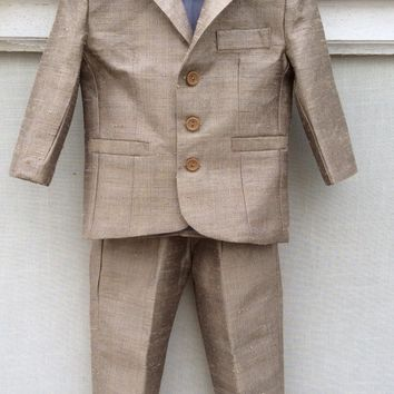 Ring Bearer Silk Suit VICTOR by Elena