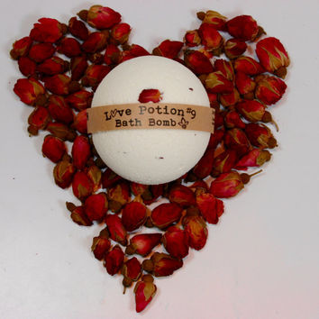 Love Potion #9 Bath Bomb, Aromatherapy Bath Bomb, 1 All Natural Bath Bomb Fizzy, Gift for lovers,  Gift of Love!