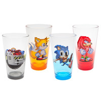 Sonic the Hedgehog 16 Bit 4-pack Pint Glasses | Overstock.com Shopping - The Best Deals on Glassware