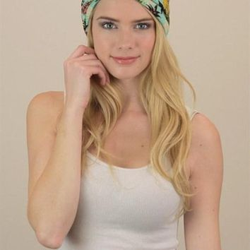 Mint Tropical Twist Headband