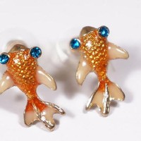 Betsey Johnson Koi Fish Earrings