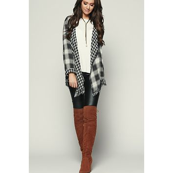 They Don't Know Flannel Cardigan (Black)