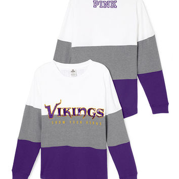 online store 9dc56 7bc27 Minnesota Vikings Varsity Crew - PINK - from VS PINK | Tops