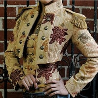 "Toreador Jacket - ""ANTIQUE"" DAMASCUS BROCADE  by Shrine Clothing Gothic Dresses"