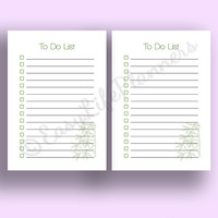 "TO DO List A5  (5.8""x8.3"") PDF. Filofax undated printable To Do list. CheckList printable binder inserts. Instant Download."